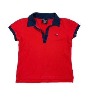 Polo Jeans Ralph Lauren Red Shirt Top Women's L